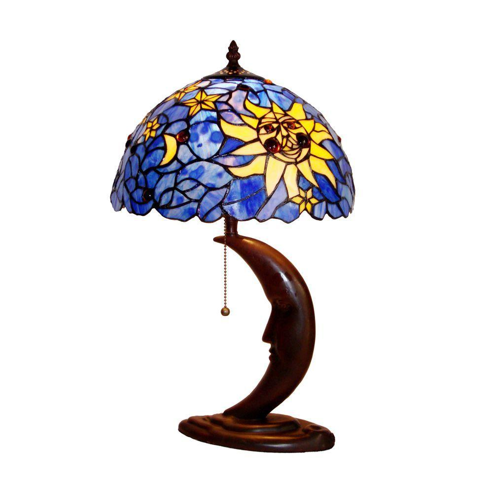 Chloe Lighting Tiffany-style 12 in. Light Mini Table Lamp with Shade-DISCONTINUED