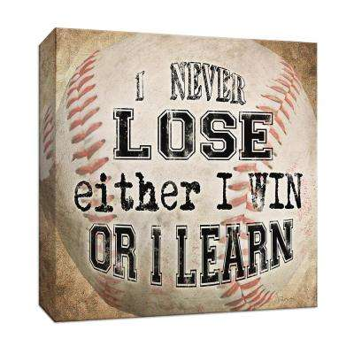 15 in. x 15 in. ''Baseball Quote'' Canvas Wall Art