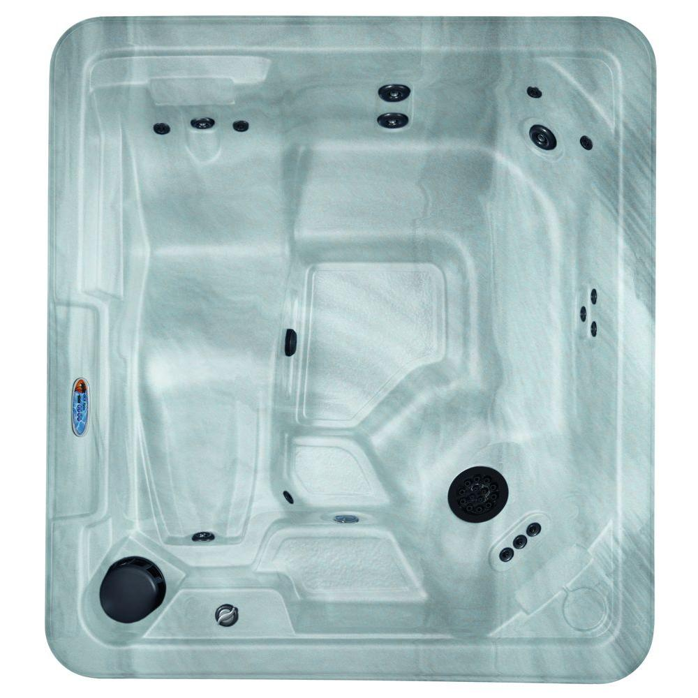 null 5-Person 30-Jet Spa with 2.2 HP BT Pump and Free Energy Saver Package in Silver Marble-DISCONTINUED