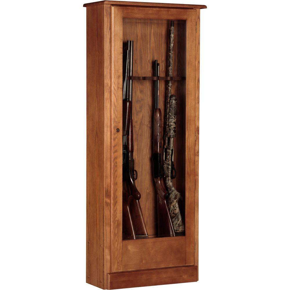 10 Gun Cabinet - Wood - Gun Safes - Safes - The Home Depot