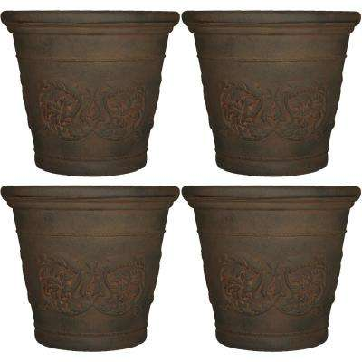 Arabella 20 in. Sable Poly Outdoor Flower Pot Planter (4-Pack)