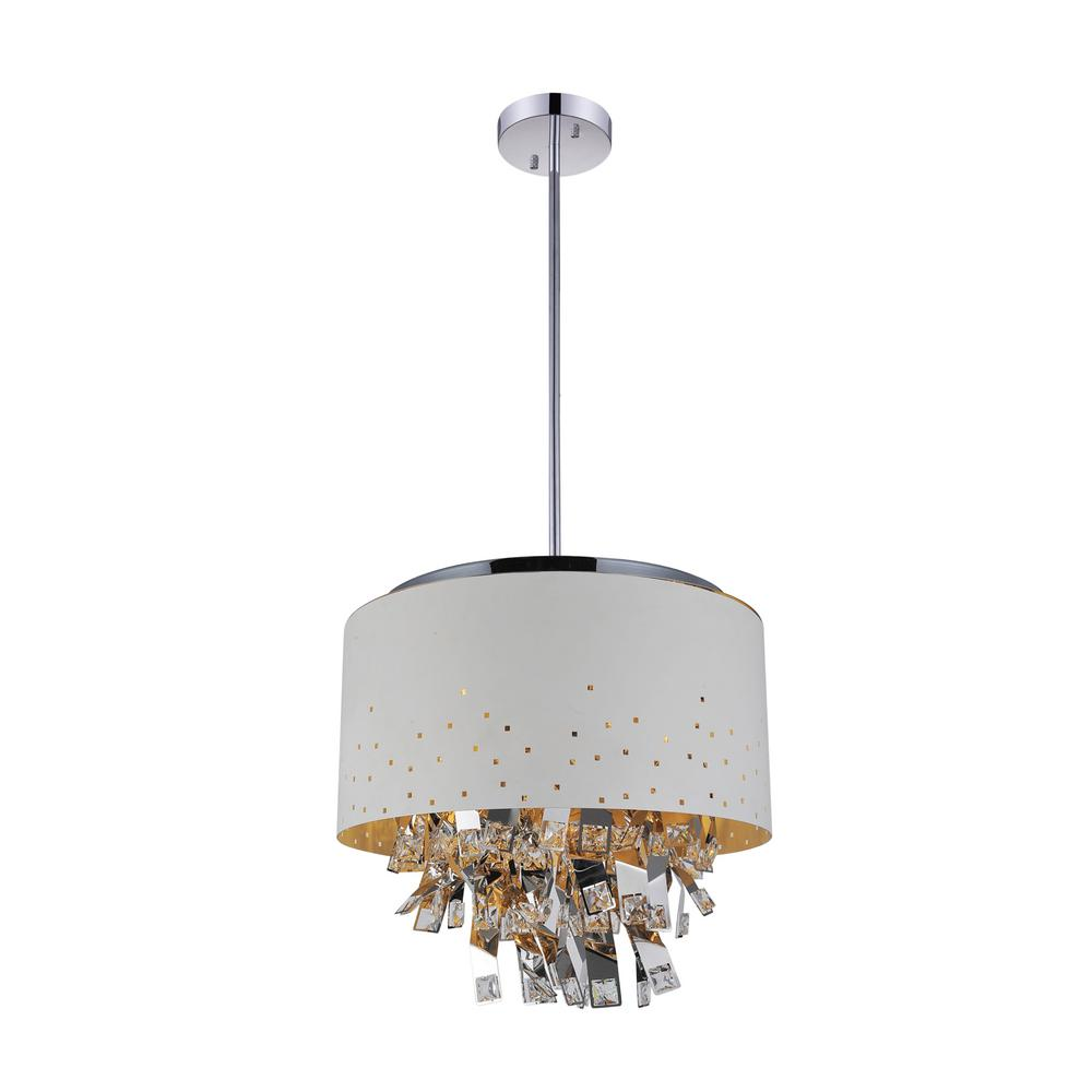 Carmella 9 Light White Chandelier With Shade