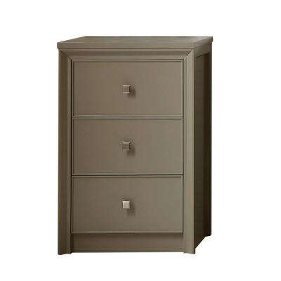 Parrish 22-1/2 in. W 3-Drawer Small Side Unit in Mushroom