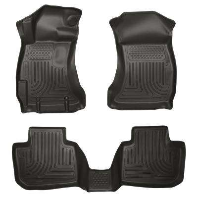 Front & 2nd Seat Floor Liners Fits 13-14 Legacy/Outback
