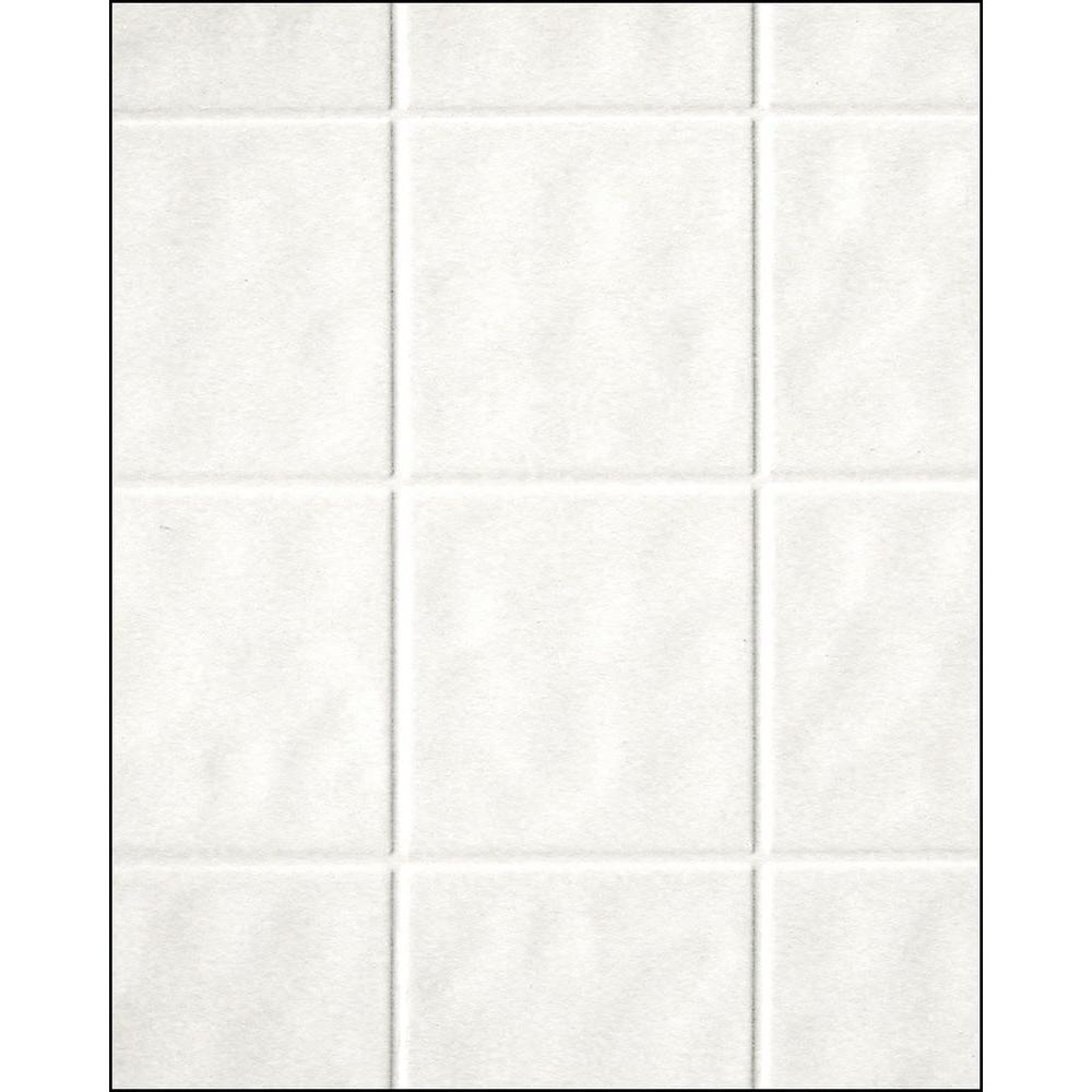 Aquatile In X In X In Toned White Tileboard - Aquatile lowes