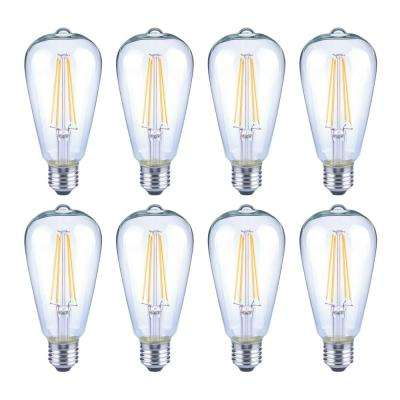 75-Watt Equivalent ST19 Antique Edison Dimmable Clear Glass Filament Vintage Style LED Light Bulb Soft White (8-Pack)
