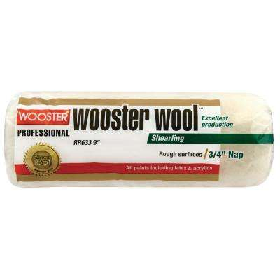 9 in. x 3/4 in. High Density Wool Roller Cover