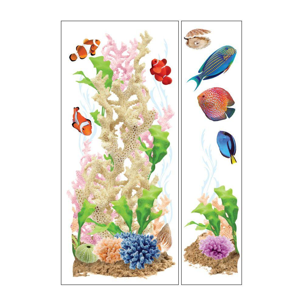 Sticky Pix Removable and Repositionable Ultimate Wall Sticker Mini Mural Appliques Sea Life-DISCONTINUED