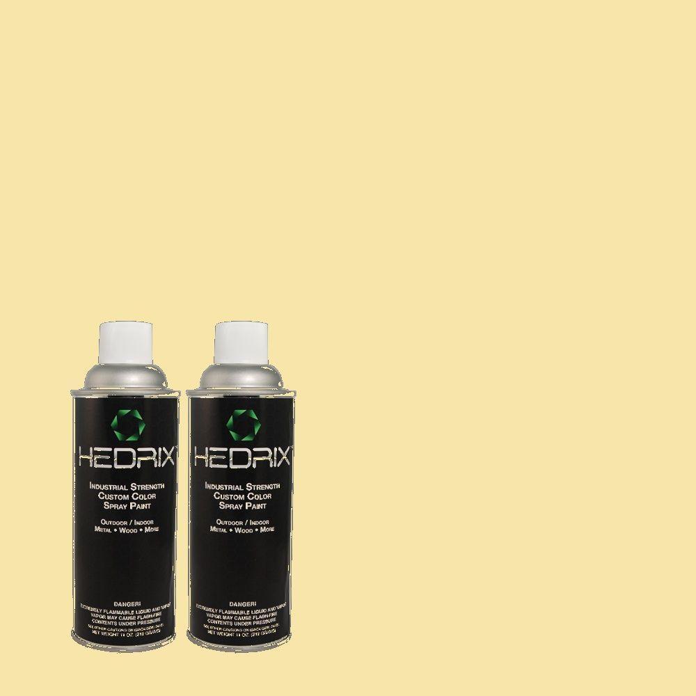 Hedrix 11 oz. Match of 370C-3 Sweet Corn Semi-Gloss Custom Spray Paint (2-Pack)