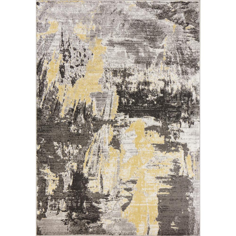 Skyline Grey 5 ft. x 8 ft. Watercolors Area Rug