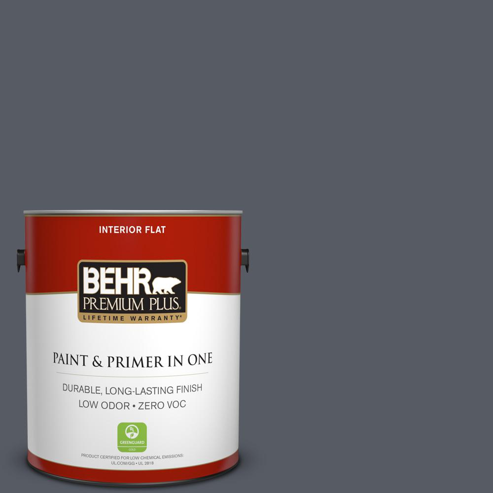 1 gal. #PPU18-02 Pencil Point Zero VOC Flat Interior Paint