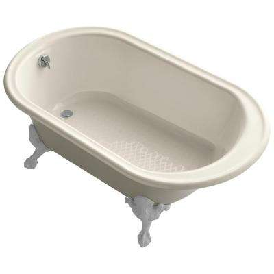 Reversible Drain Soaking Tub In Almond
