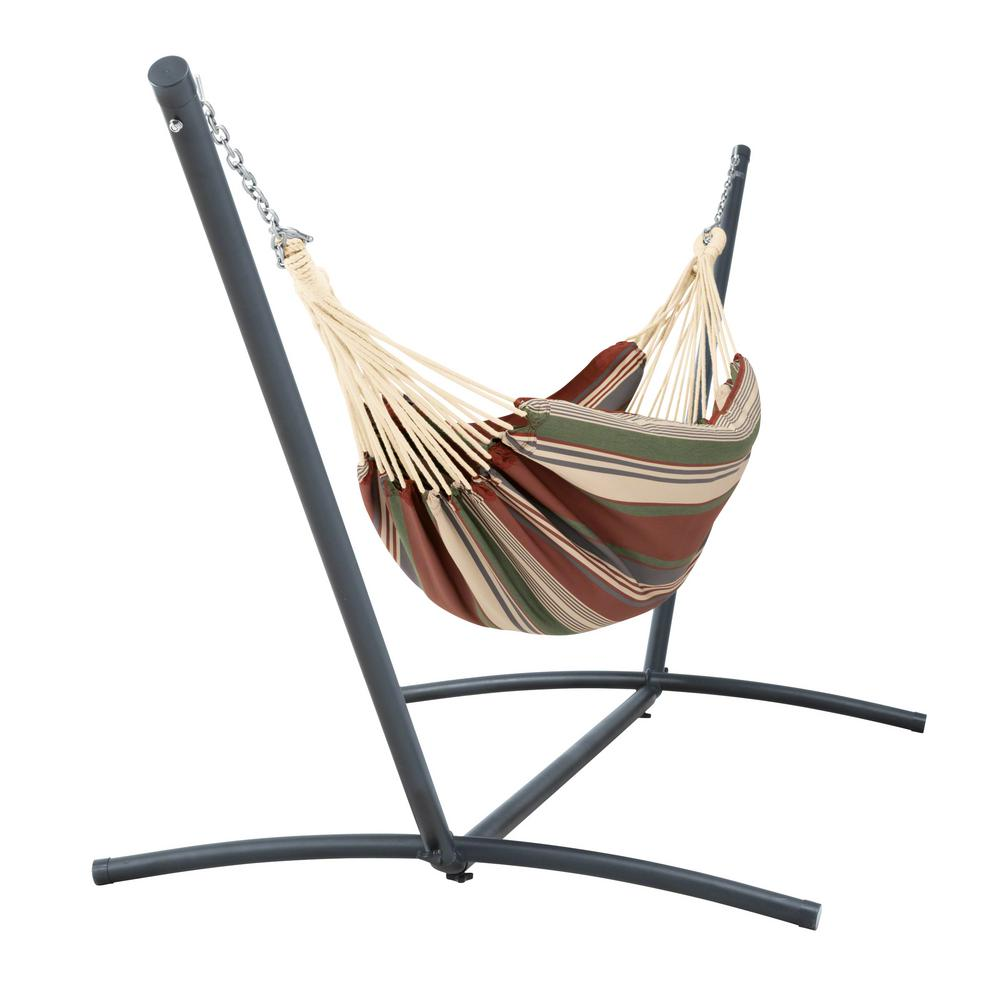 Medium image of brazilian hammock with stand in heather henna