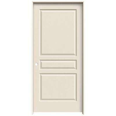 36 in. x 80 in. Avalon Primed Right-Hand Textured Hollow Core Molded Composite MDF Single Prehung Interior Door