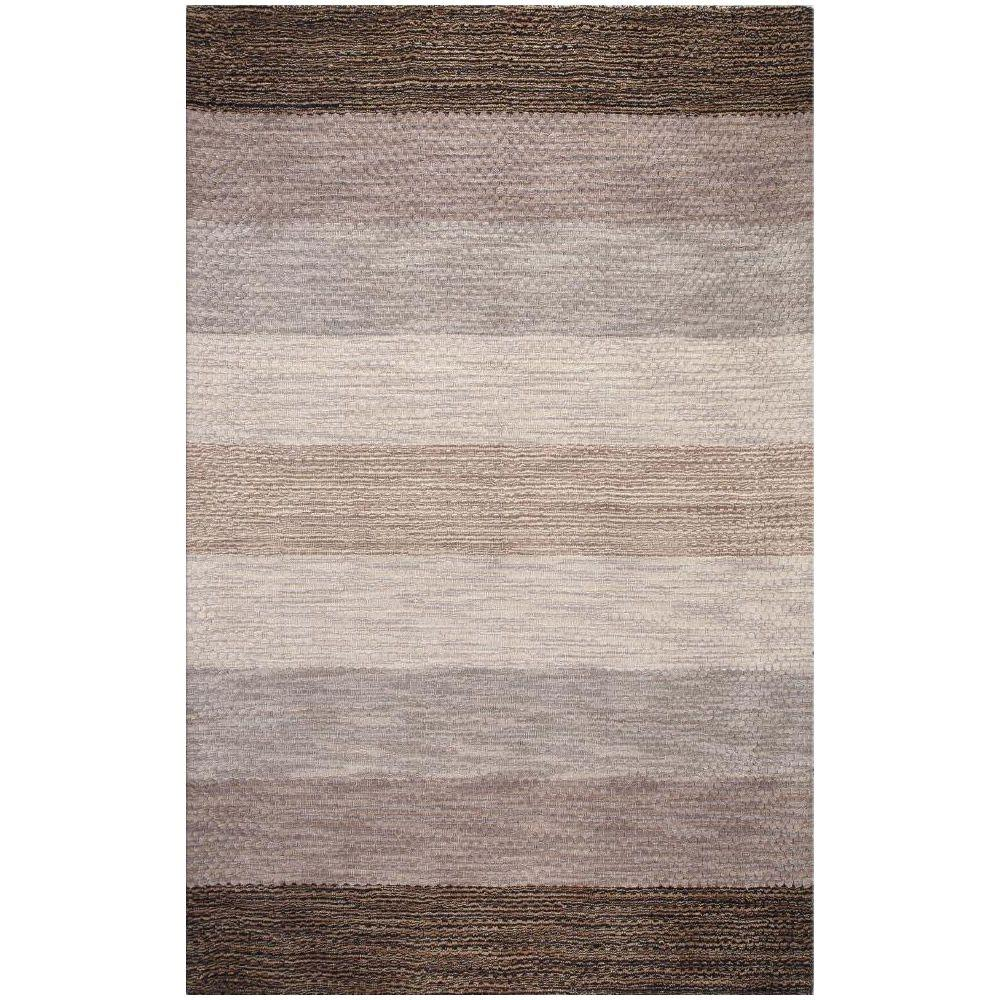 BASHIAN Contempo Collection Stripes Grey Multi 3 ft. 6 in. x 5 ft. 6 in. Area Rug
