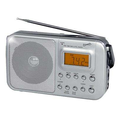 SC-1091 Handheld Digital AM/FM Radio with Display, SW1, SW2 and AC/DC Operated
