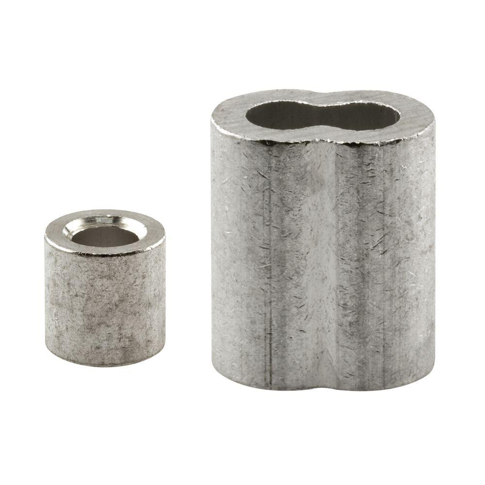 Prime-Line 3/8 in. Aluminum Ferrules and Stops-GD 12257 - The Home Depot