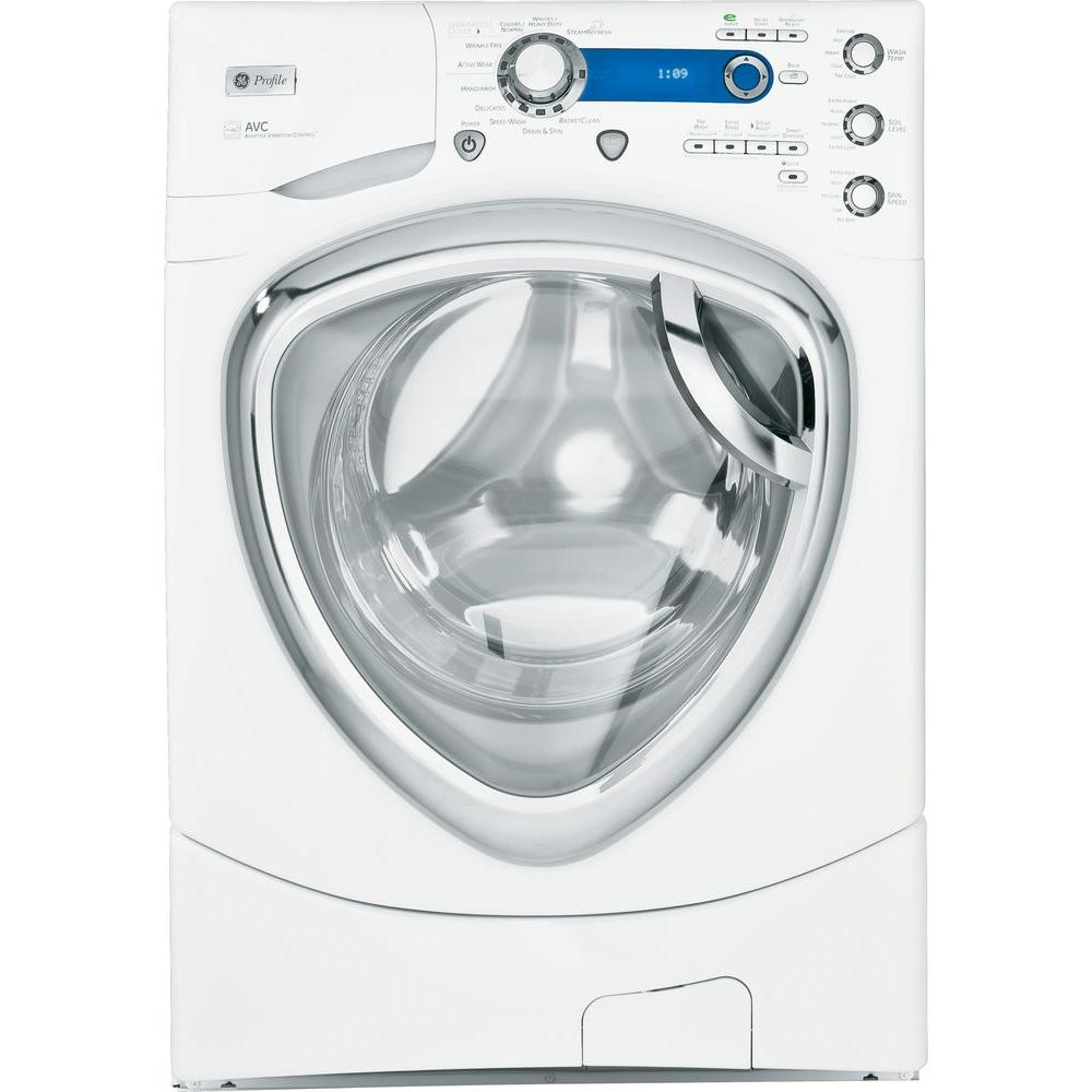 GE Profile 4.3 cu. ft. High-Efficiency Front Load Washer with Steam in White