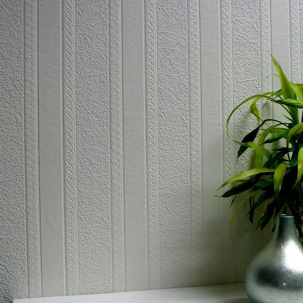 Textured paintable wallpaper - Anaglypta Blarney Marble Stripe Paintable Textured Vinyl Wallpaper Sample