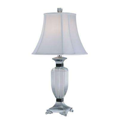 28.75 in. White Table Lamp with White Fabric Shade