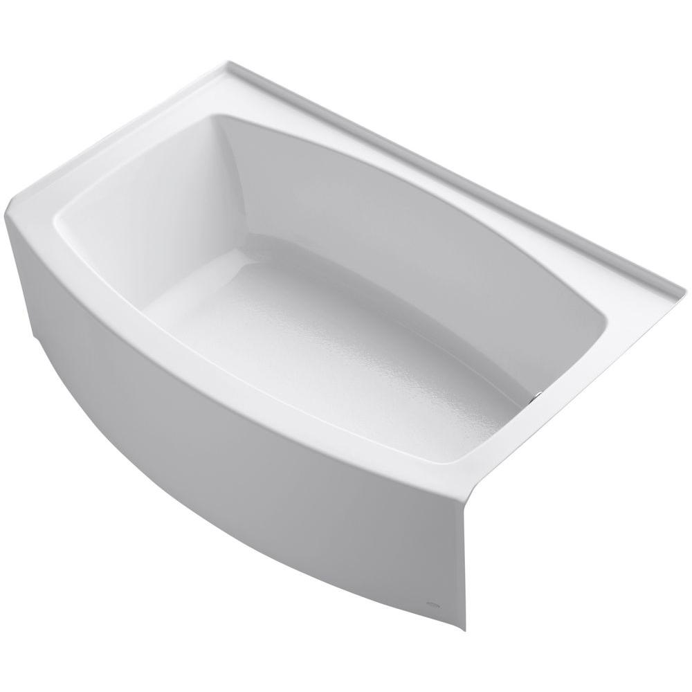 Delta Classic 400 Curve 5 Ft Right Drain Soaking Tub In