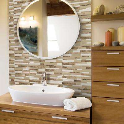 Milano Sasso 11.55 in. W x 9.65 in. H Peel and Stick Decorative Mosaic Wall Tile Backsplash (12-Pack)