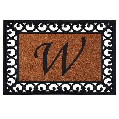 Monogram Insert Door Mat 19 in. x 25 in. (Letter W)