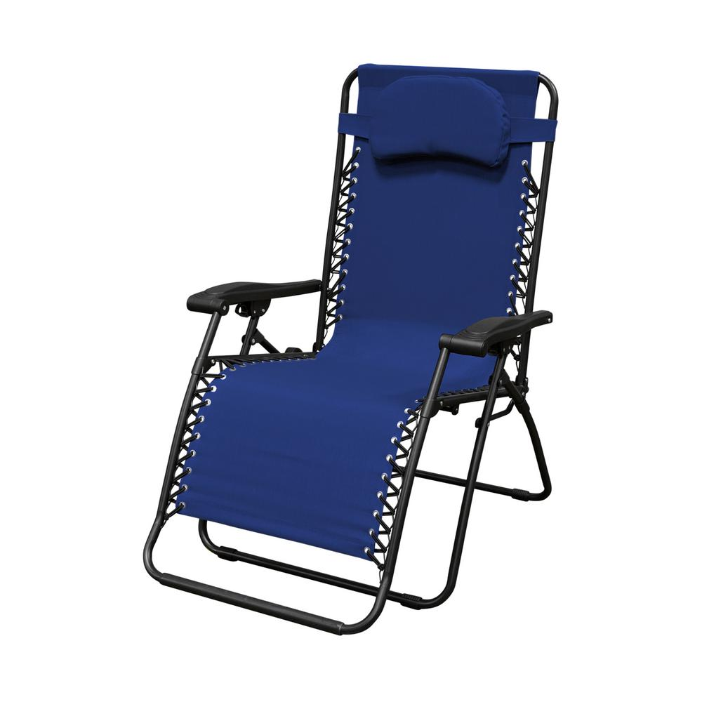 Infinity Blue Oversize Zero Gravity Patio Chair - Infinity Blue Oversize Zero Gravity Patio Chair-80009000021 - The
