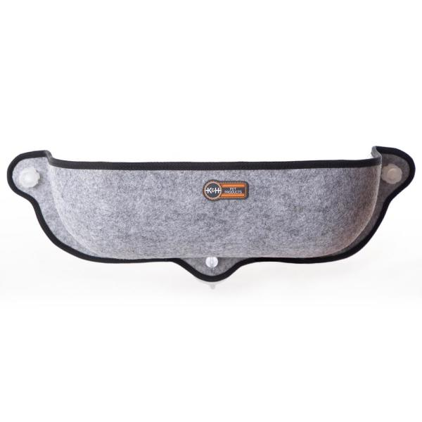 Large Gray Thermo EZ Mount Window Bed-Extra Deep 27'' X 10'' x 11'' 4W