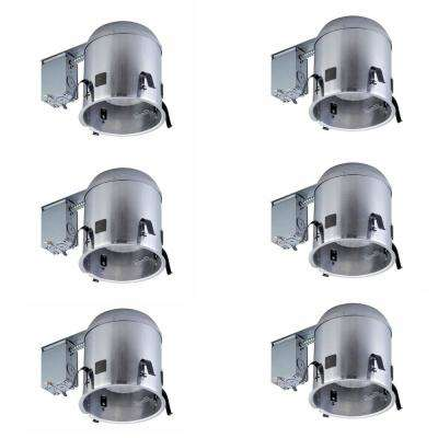 6 in. Aluminum Recessed IC Remodel Airtight Housing (6-Pack)