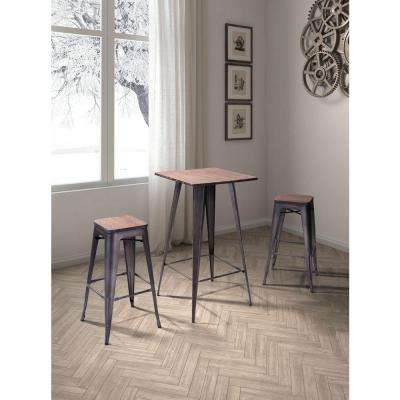Marius 29.9 in. Rustic Wood Bar Stool (Set of 2)