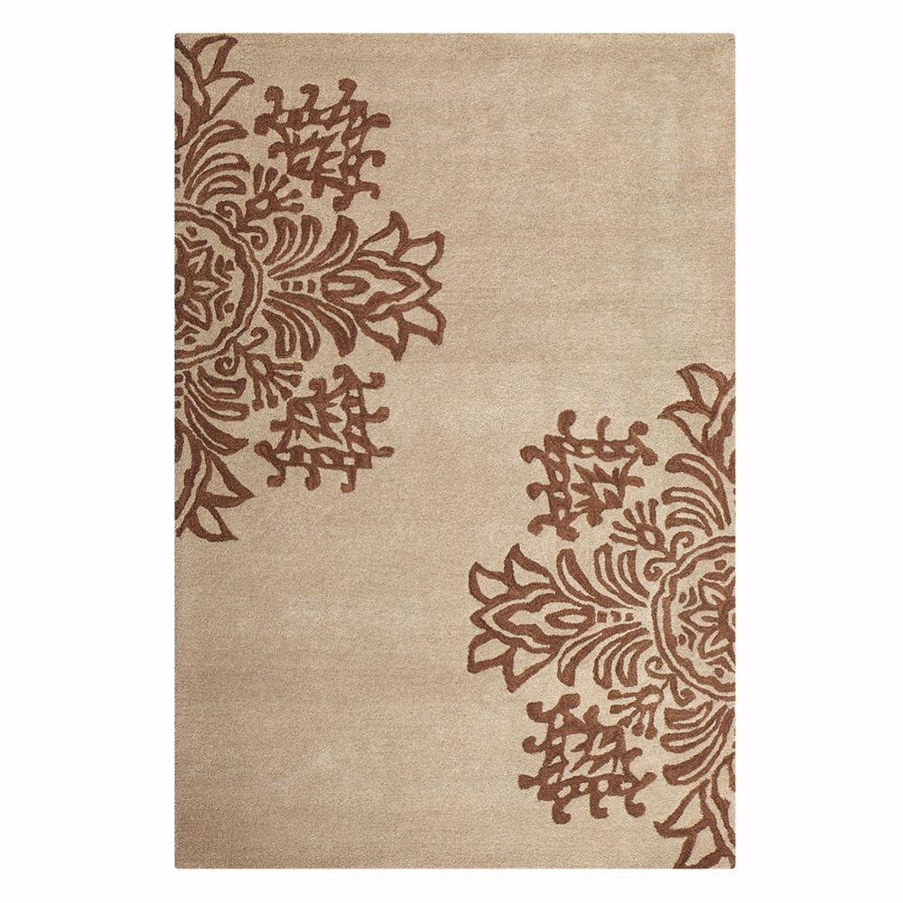 Home Decorators Collection Tempo Beige 2 ft. 6 in. x 4 ft.6 in. Area Rug
