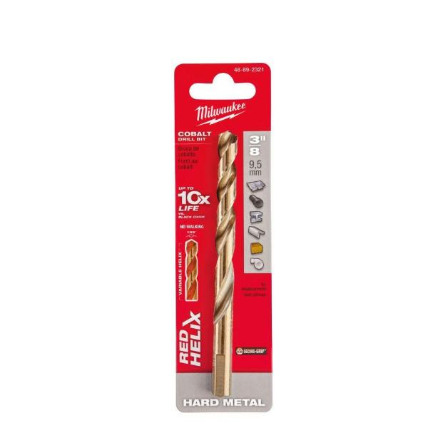 Milwaukee Red Helix Cobalt Drill Bit