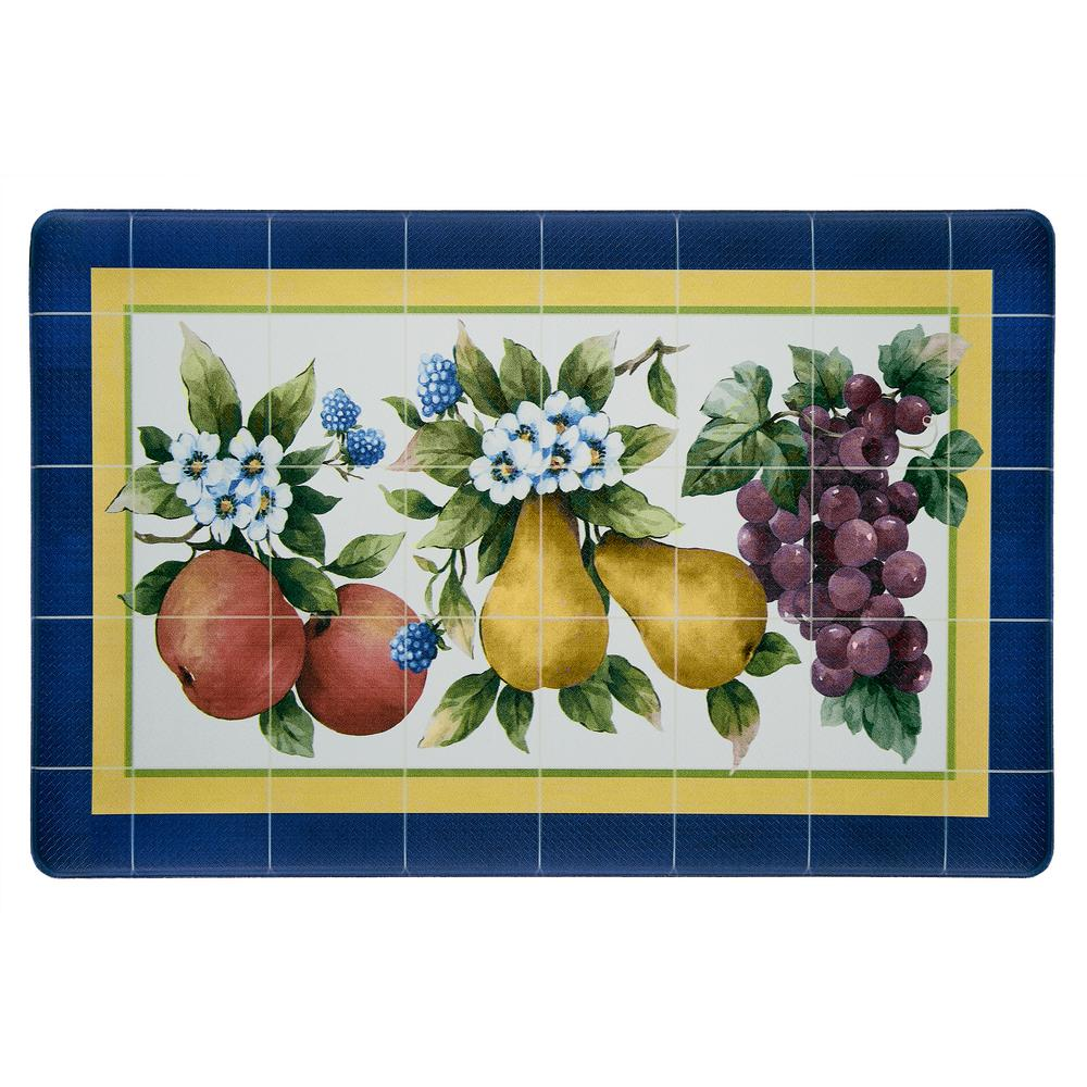 Achim Fruity Tiles 18 in. x 30 in. Anti-Fatigue Mat