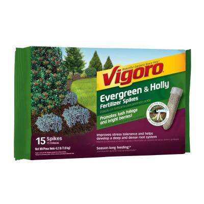 4.2 lb. Evergreen and Holly Fertilizer Spikes (15-Count)