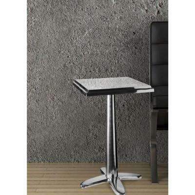 Cafe Polished Aluminum End Table