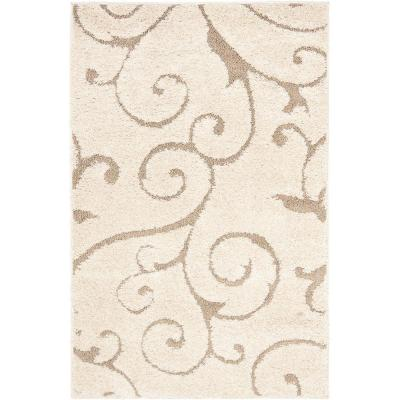 Florida Shag Cream/Beige 3 ft. x 5 ft. Area Rug