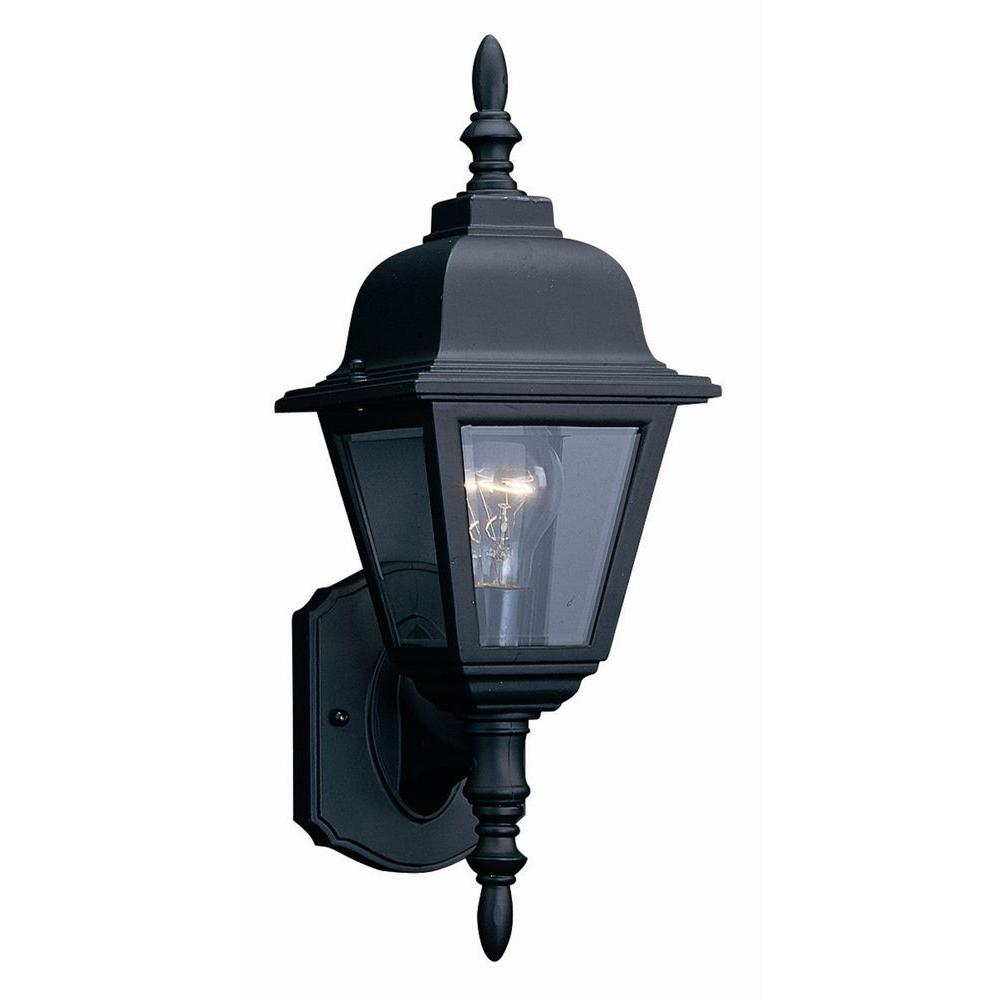 Design House Maple Street Black Outdoor Wall-Mount Die-Cast Uplight ...