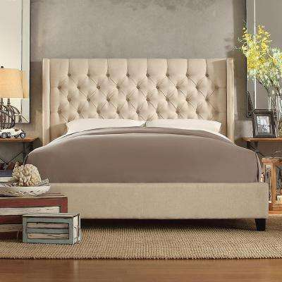 Wentworth Oatmeal Queen Upholstered Bed