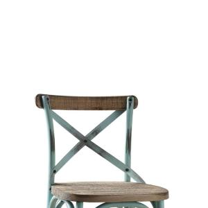 Stupendous 14 In Antique Turquoise Wood And Metal Bar Height Chair With X Style Panel Back Onthecornerstone Fun Painted Chair Ideas Images Onthecornerstoneorg