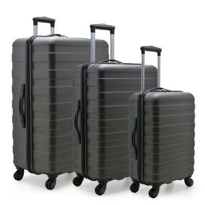 Cypress Colorful 3-Piece Charcoal Hardside Spinner Luggage Set