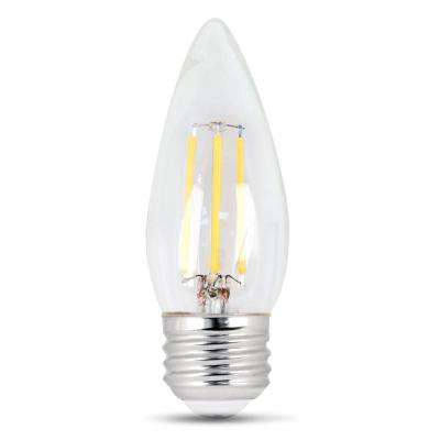 40-Watt Equivalent (5000K) B10 Dimmable Filament LED Clear Glass Light Bulb, Daylight (Case of 12)