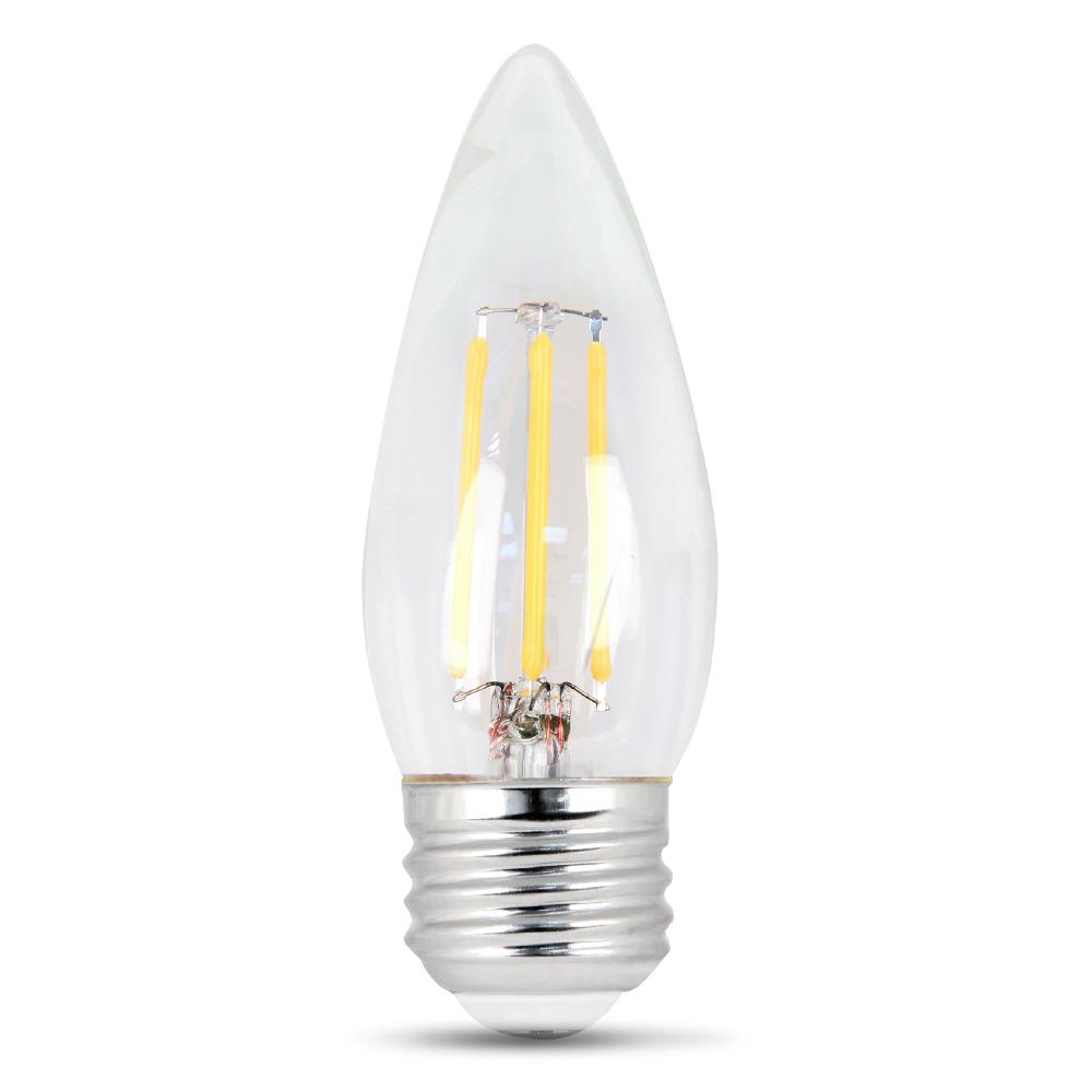 40-Watt Equivalent Daylight B10 Dimmable Clear Filament LED Medium Base Light