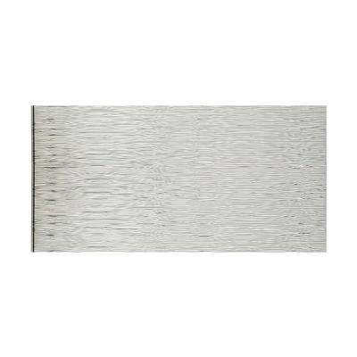 Waves Horizontal 96 in. x 48 in. Decorative Wall Panel in Brushed Aluminum