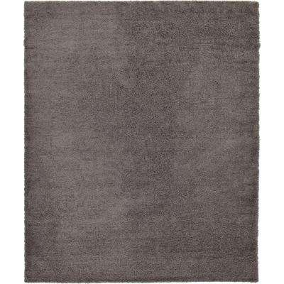 Solid Shag Graphite Gray 12 ft. x 15 ft. Area Rug