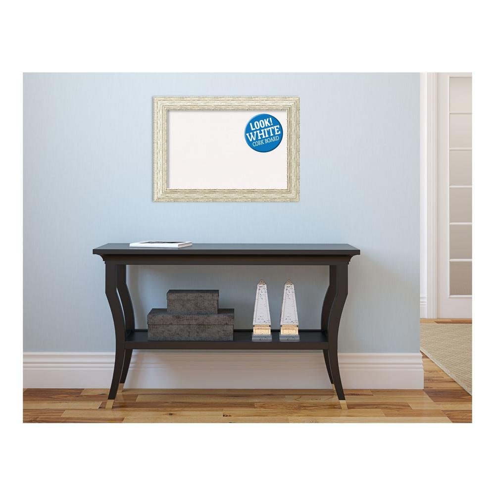 Cape Cod White Wash Wood 22 in. x 16 in. Framed