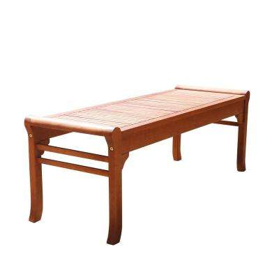 Malibu 4 ft. Backless Patio Bench