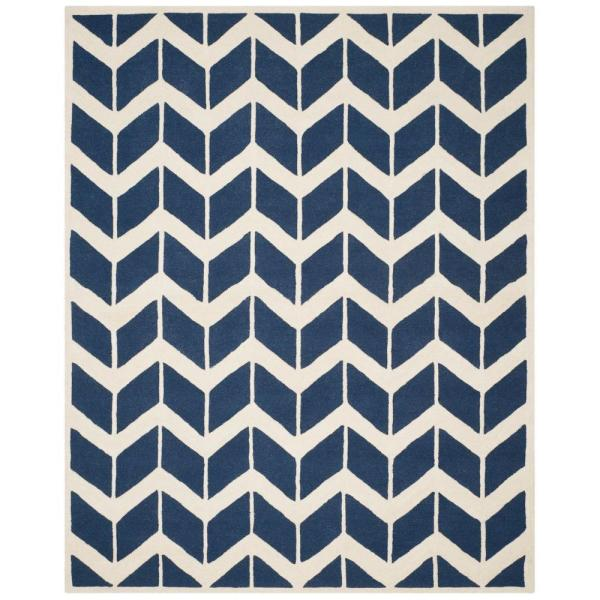 Safavieh Cambridge Navy Ivory 6 Ft X 9 Ft Area Rug Cam718m 6 The Home Depot