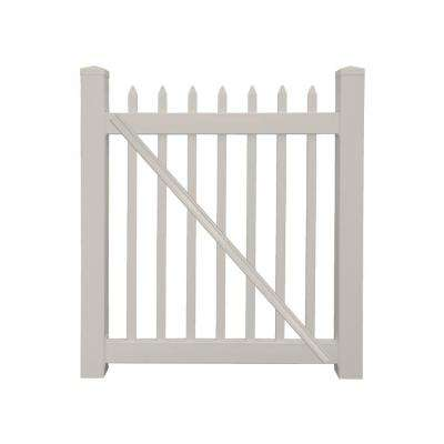 Abbington 4 ft. W x 4 ft. H Tan Vinyl Picket Fence Gate