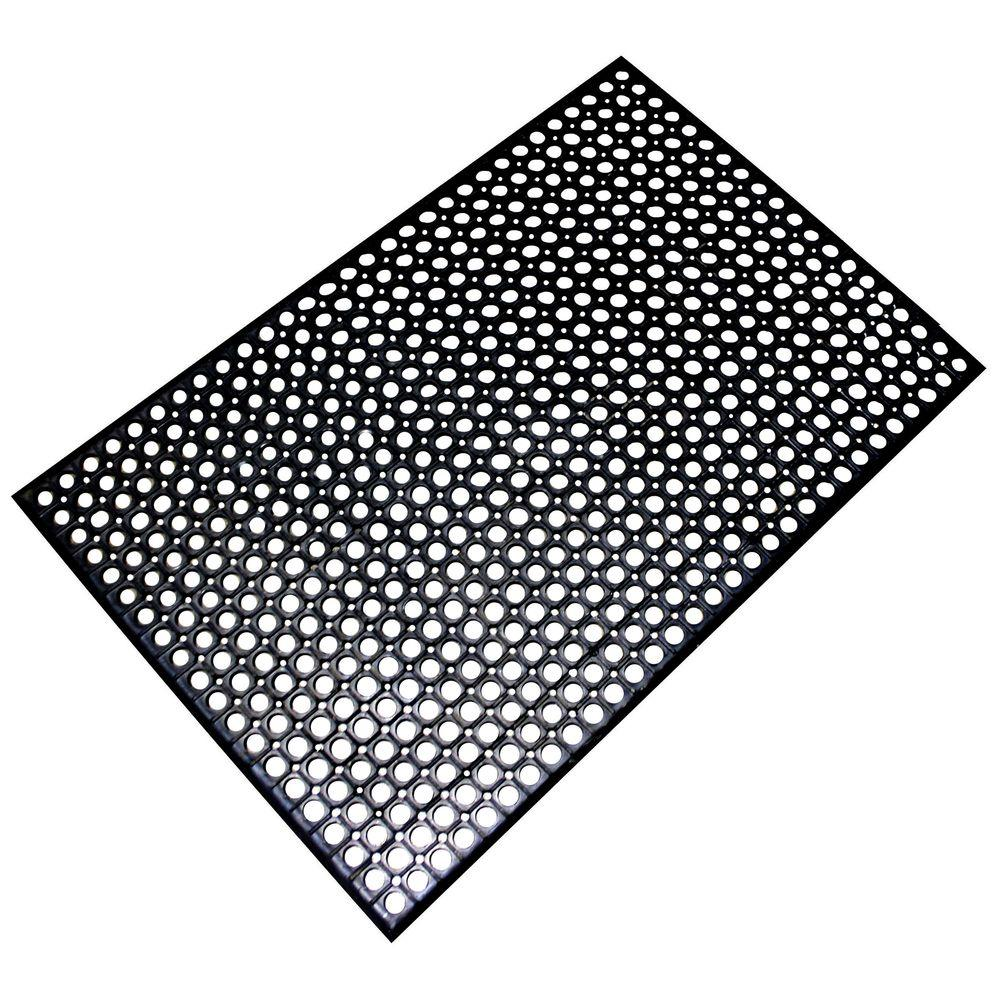 Buffalo Tools In X In AntiFatigue Rubber Flat MatRMAT - Rubber grate flooring